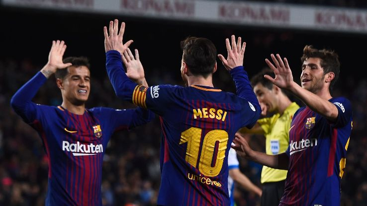 Barcelona have now gone 38 games in La Liga without losing, matching a 38-year league record.