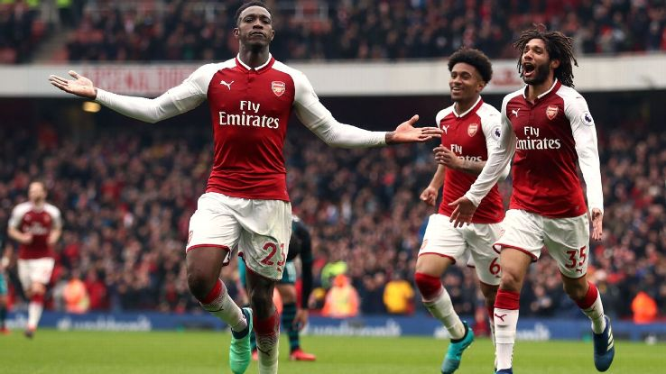 Danny Welbeck scored twice as Arsenal overcame Southampton at the Emirates.