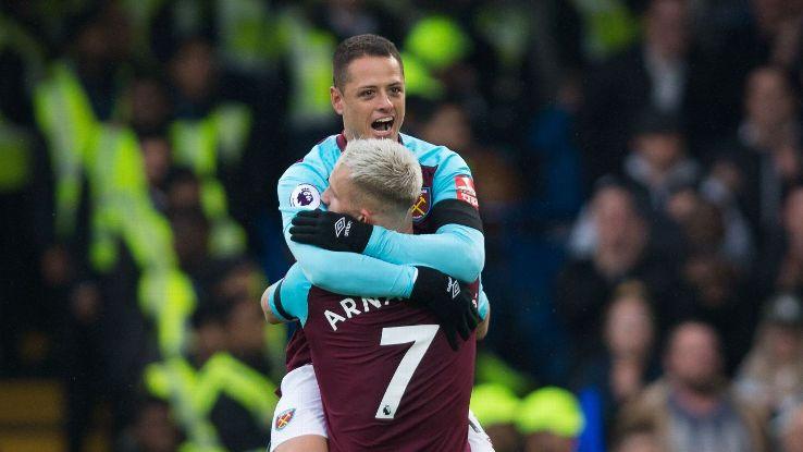 Javier Hernandez now has nine goals in 14 games against Chelsea.