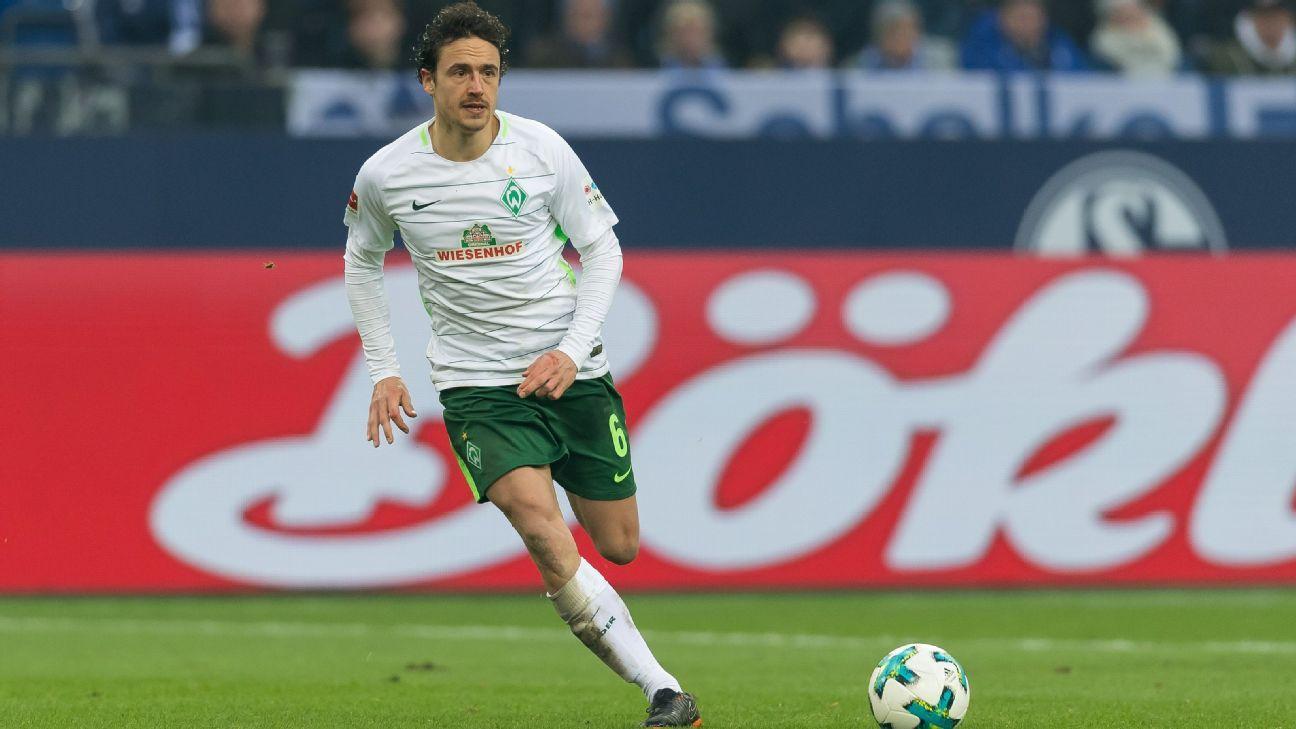 Werder Bremen's Thomas Delaney