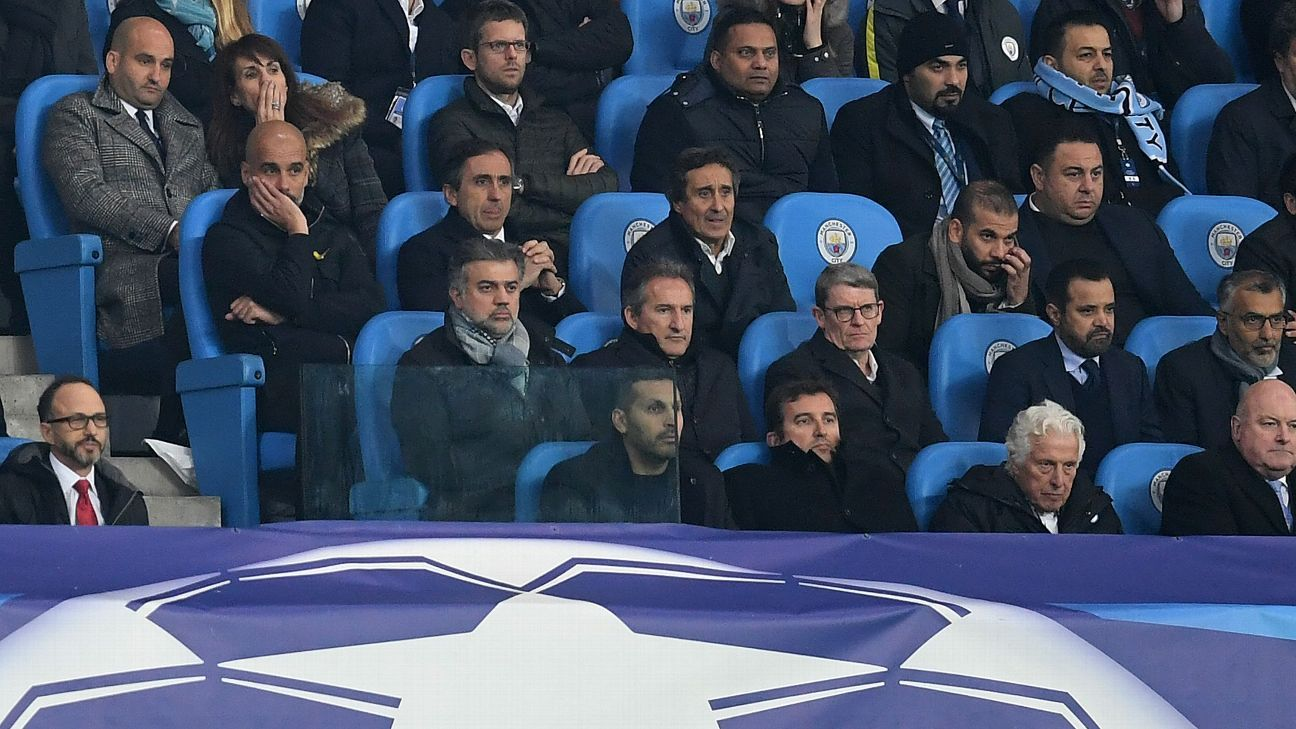 Pep Guardiola will watch City's first Champions League game from the stands next season.