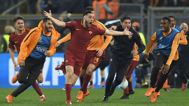 Roma beat Barcelona 3-0 in the second leg to reach the semis and a similar result against Liverpool would be enough.