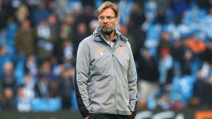 Jurgen Klopp during Liverpool's Champions League quarterfinal second leg win over Manchester City.