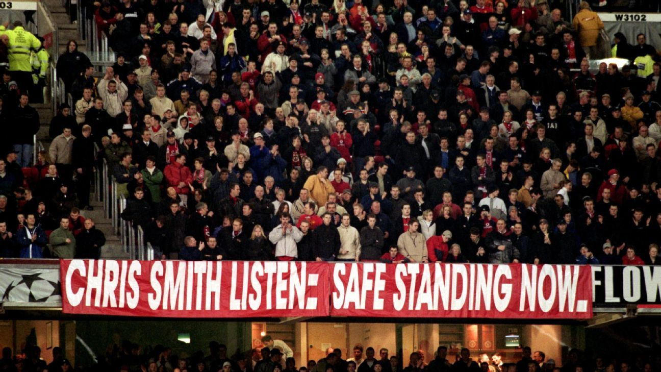 Man United fans have sought safe standing for 20 years now.