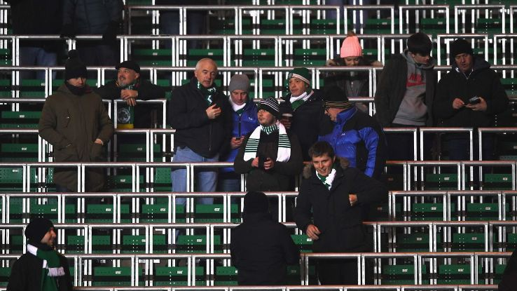 The safe standing area at Celtic's Parkhead ground.