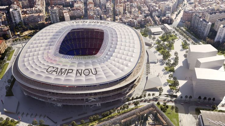 A rendering of what the Camp Nou will look like after renovations.