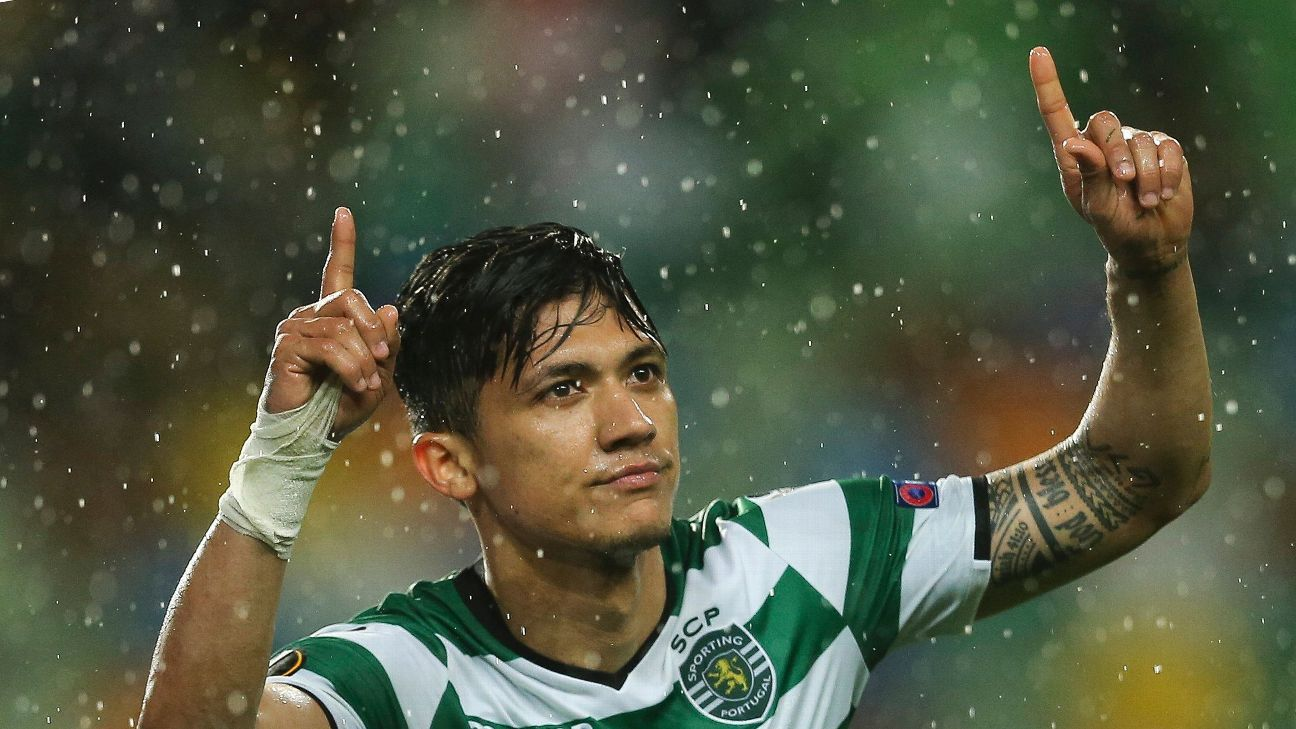 Fredy Montero got Sporting Lisbon back into things with an early goal vs. Atletico Madrid.