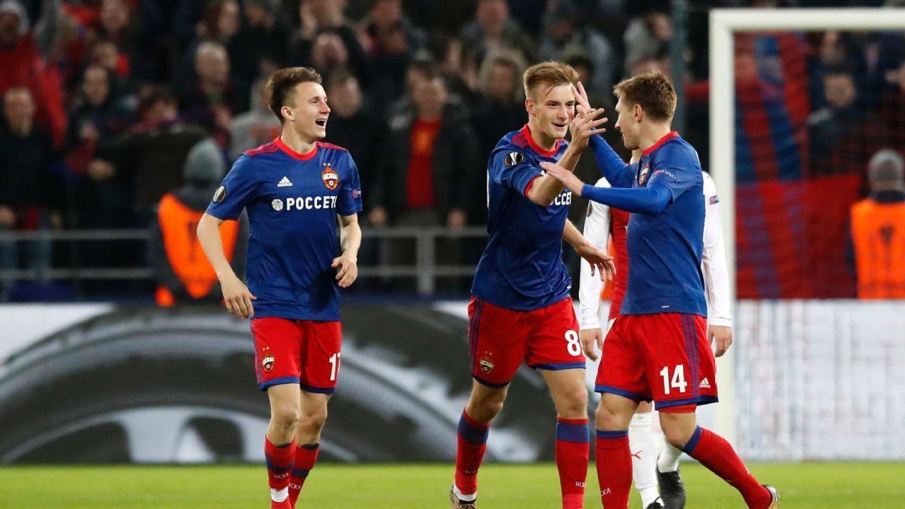 Kirill Nabakin's early second-half goal pulled CSKA within one of Arsenal.