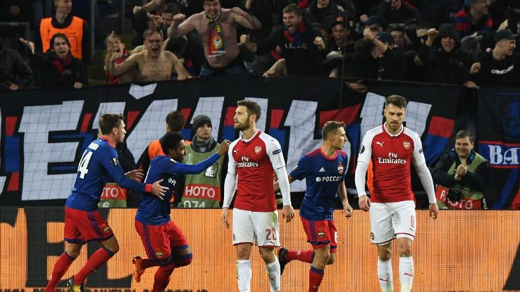 Arsenal made it hard work but advanced to the Europa League semis.