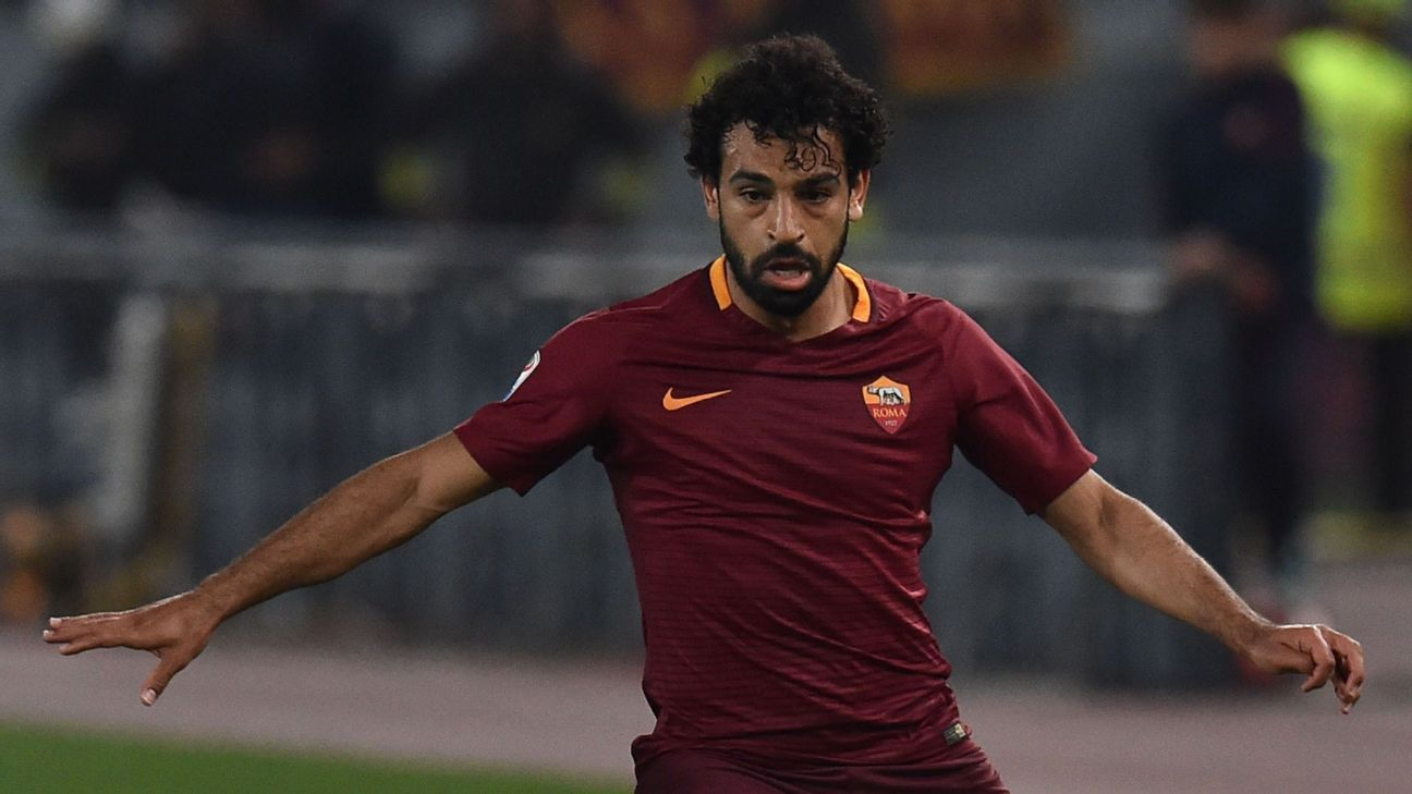 Mohamed Salah playing for Roma