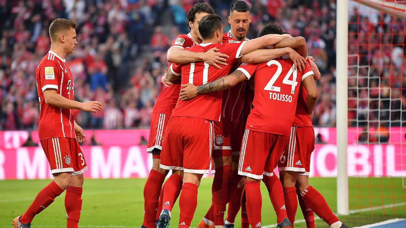 Thiago Alcantara was involved in three goals for Bayern vs. 'Gladbach.