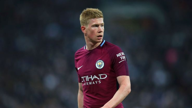 Kevin De Bruyne has played in 48 of Man City's 53 games so far this season.