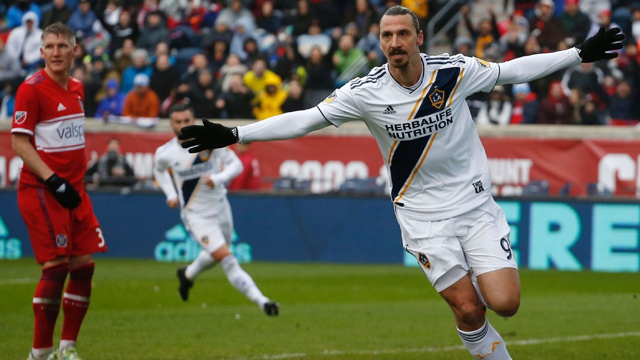 Zlatan Ibrahimovic scores in first start to boost Galaxy at Fire