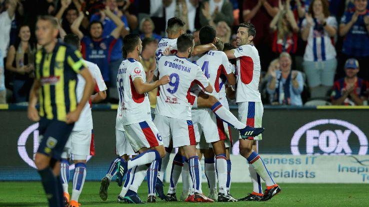 Newcastle Jets celebrate