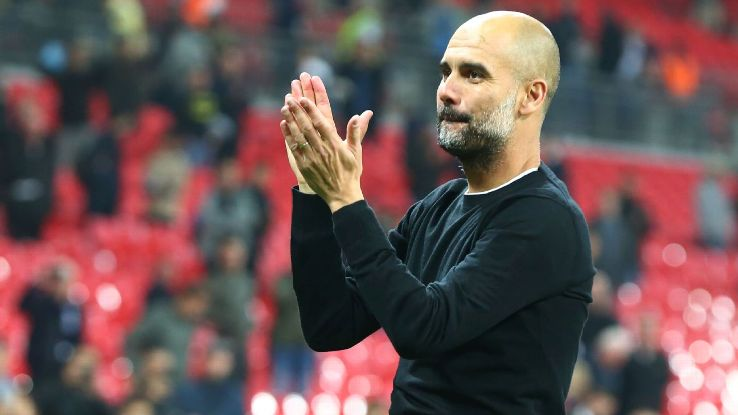 Pep Guardiola salutes Manchester City fans after win at Tottenham