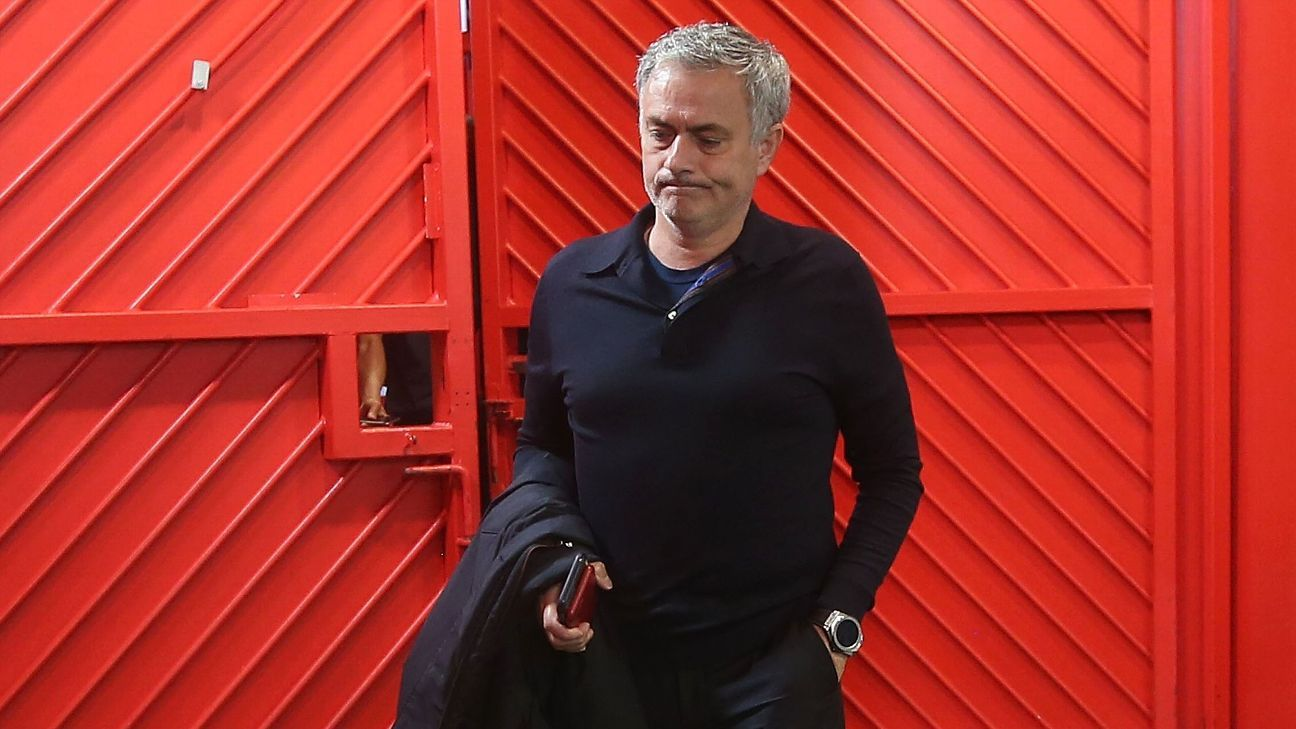 Jose Moutrinho arrives at Old Trafford for game vs West Brom