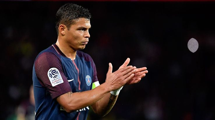 Paris Saint-Germain's Thiago Silva