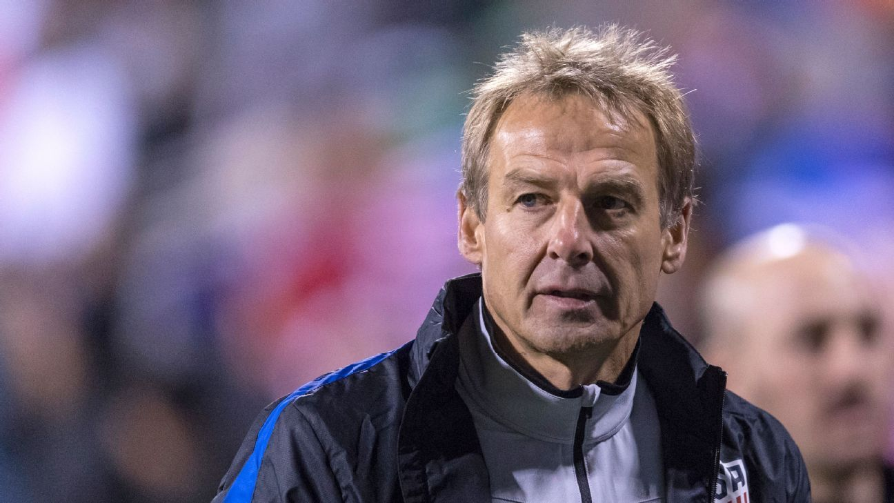 Former U.S. men's national team coach Jurgen Klinsmann