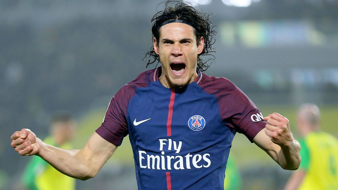 Paris Saint-Germain's Edinson Cavani