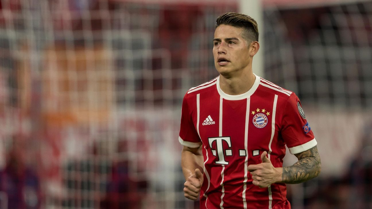 Bayern Munich's James Rodriguez
