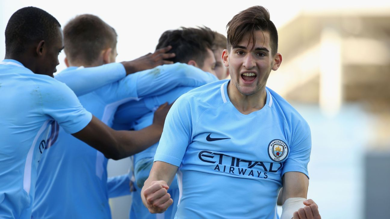 Manchester City's Benjamin Garre
