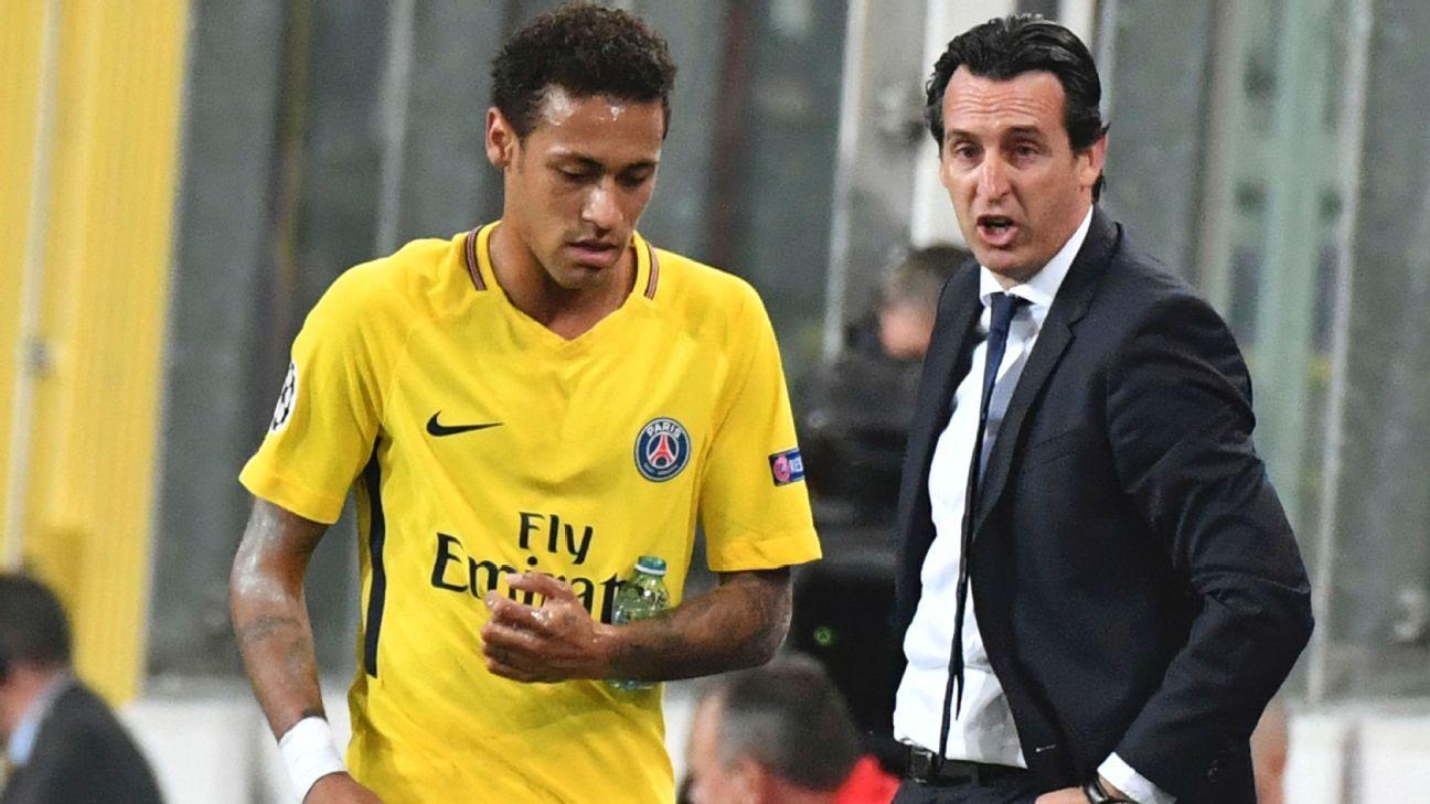 PSG boss Unai Emery hasn't spoken to Neymar in 'two or three weeks'