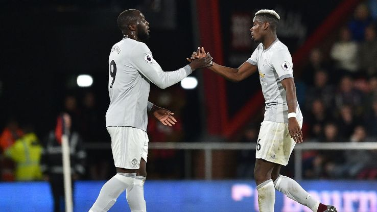 Man United teammates Romelu Lukaku, left, and Paul Pogba, right, will be in opposition when Belgium meet France.