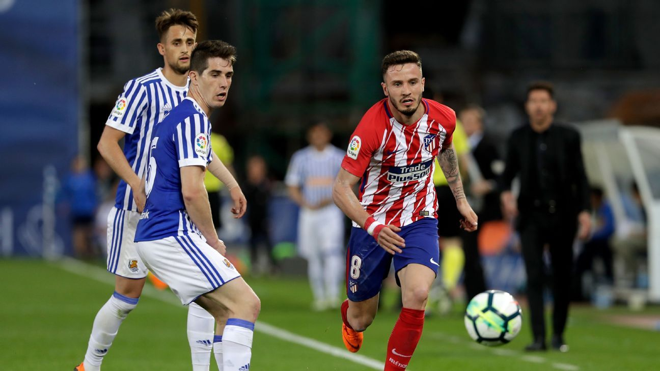 Saul Niguez looked like a player who needs a bit of a rest at the moment.