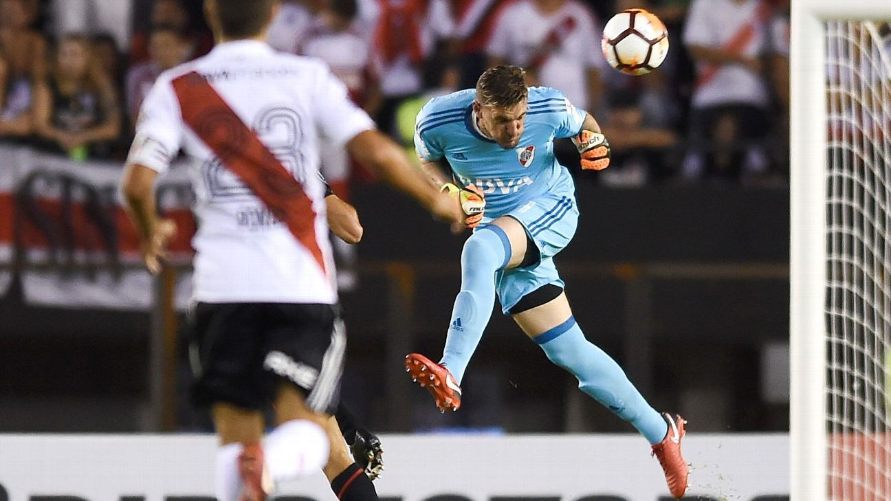 Franco Armani's performance for River Plate is garnering calls for the goalkeeper to net a spot for Argentina in this summer's World Cup.