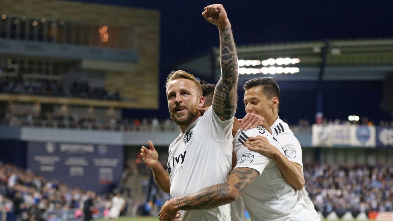 Johnny Russell hat trick helps Sporting Kansas City rout nine-man Vancouver Whitecaps