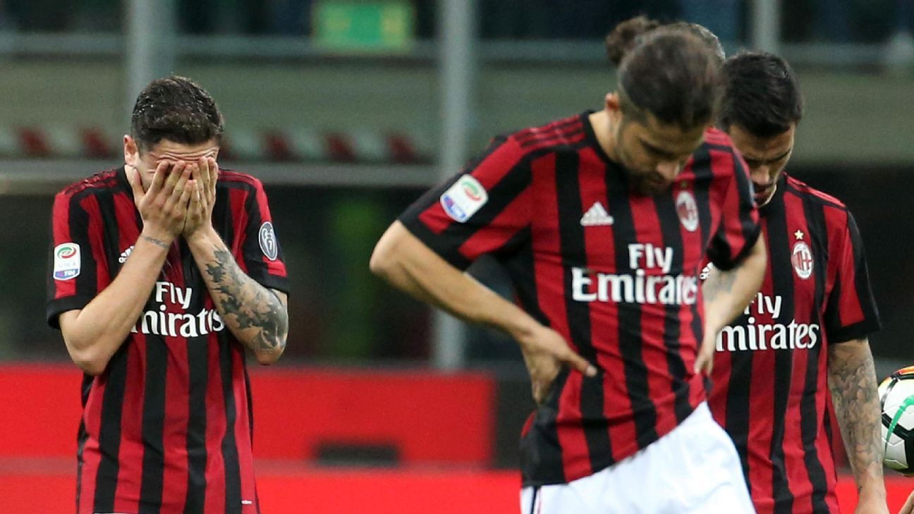 AC Milan endured a difficult 2017-18 following a lavish spending spree the summer before.