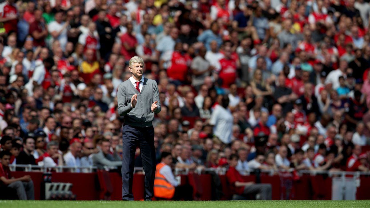 Arsenal manager Arsene Wenger during the Premier League  match at the Emirates Stadium London.