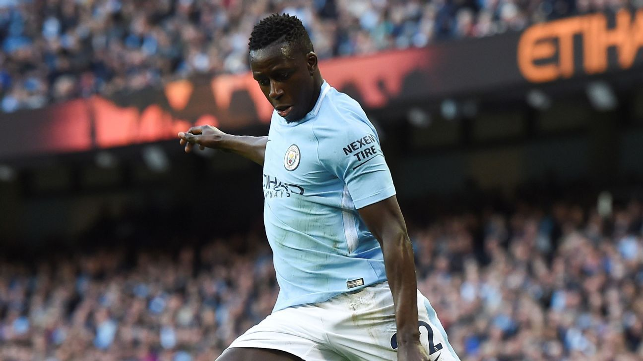 Benjamin Mendy returned from injury during Manchester City's win against Swansea.