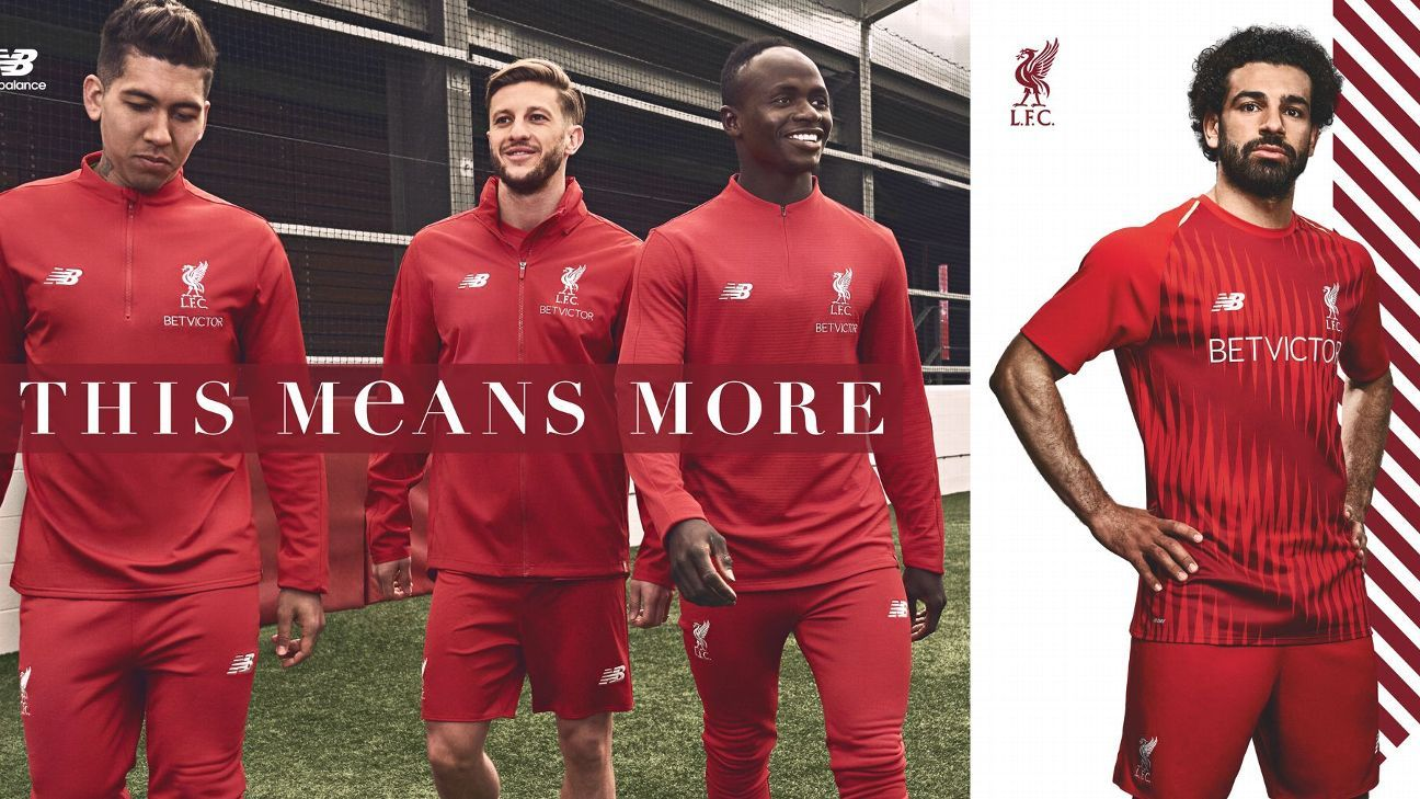 Liverpool's new training kit.