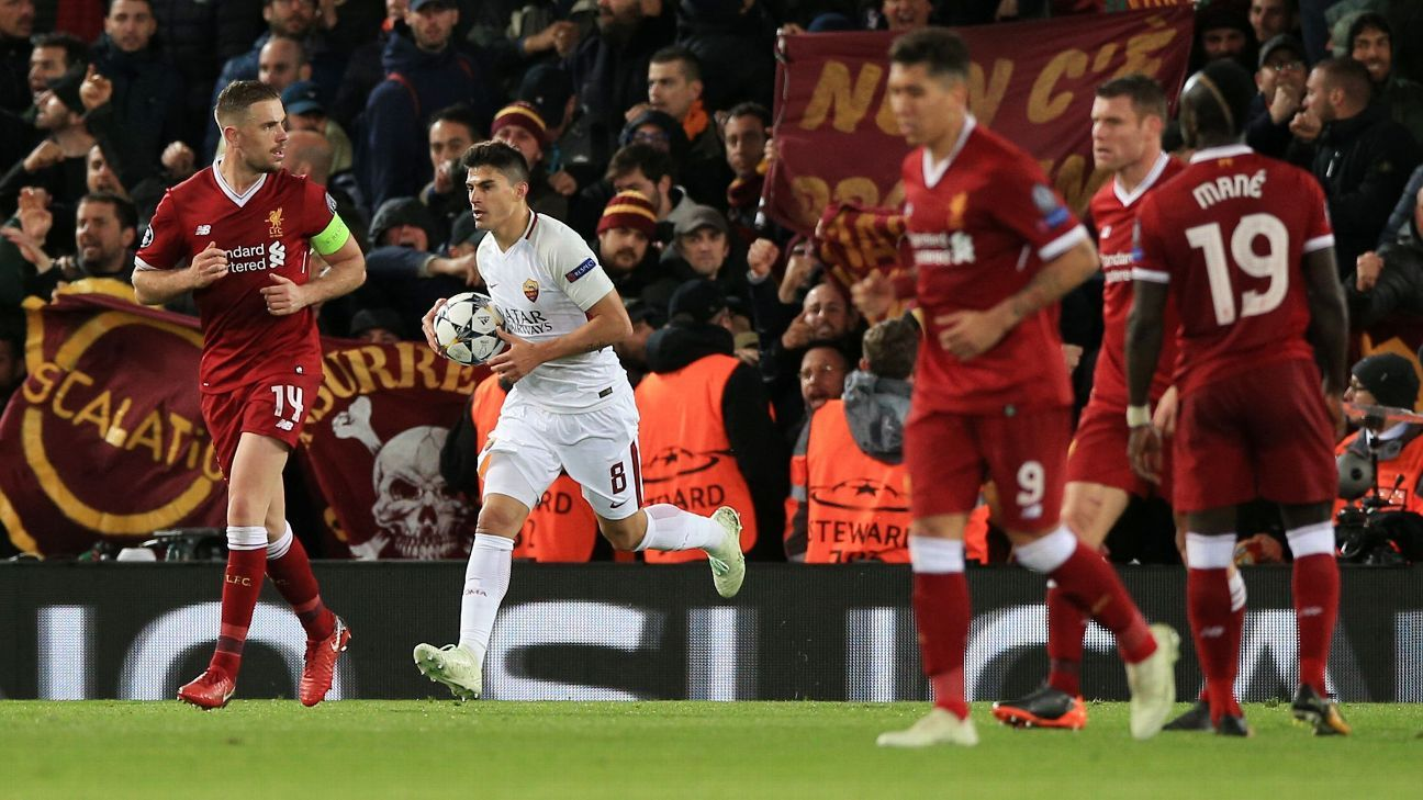 Roma's two late away goals at Anfield gives them a glimmer of hope for the second leg.