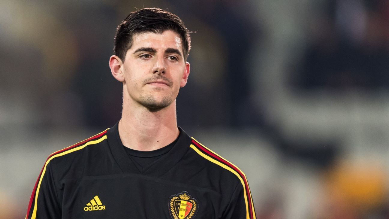 Belgium and Chelsea goalkeeper Thibaut Courtois