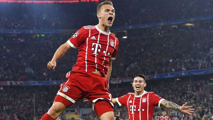 Joshua Kimmich struck for Bayern in their semifinal first leg against Real Madrid.