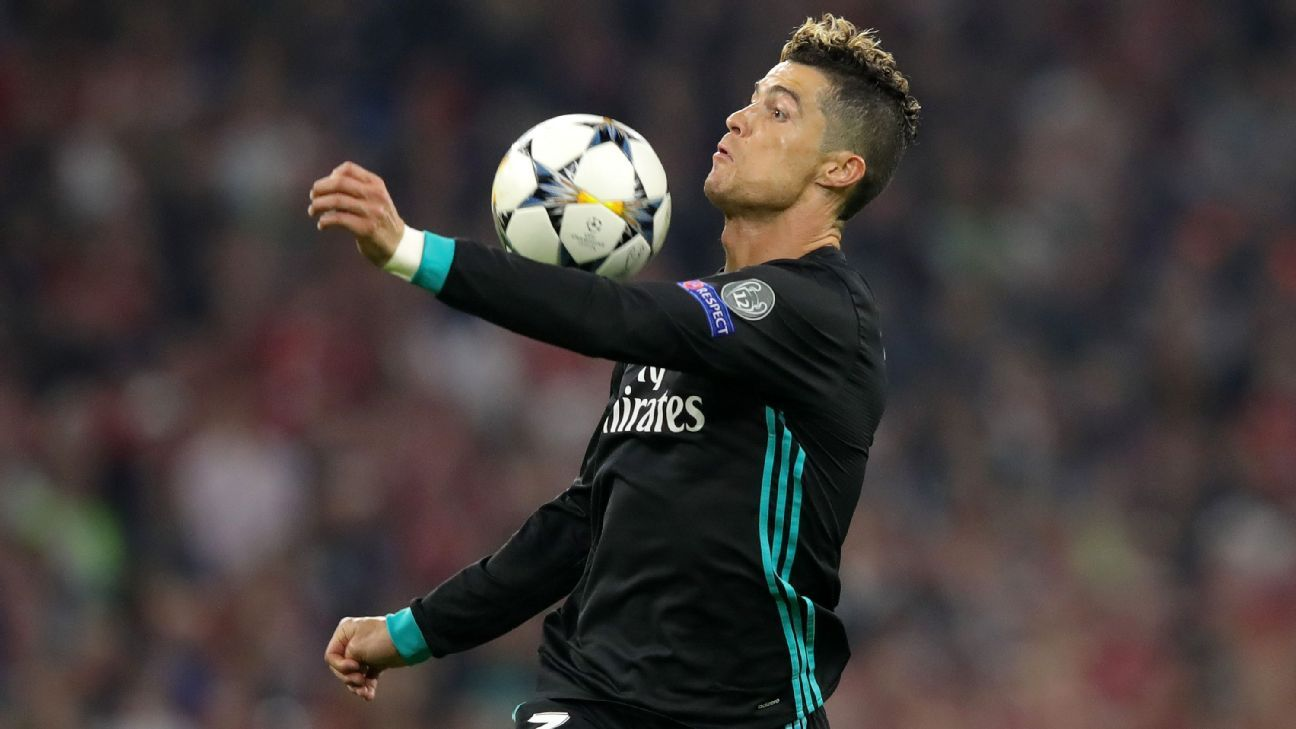 Cristiano Ronaldo brought the ball down with his arm before putting the ball in the net.