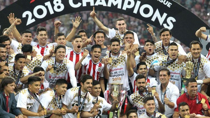 Chivas celebrate their first continental title since 1962.