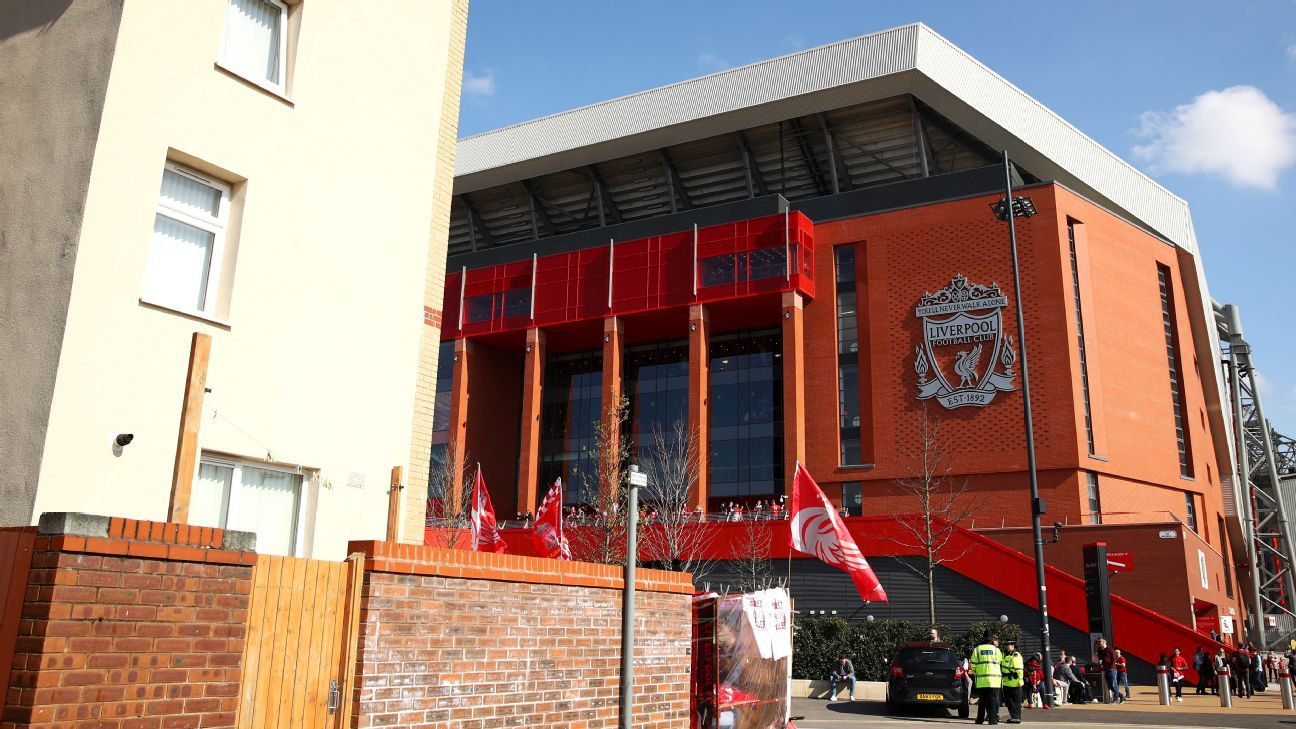 A general view of Liverpool's Anfield stadium.