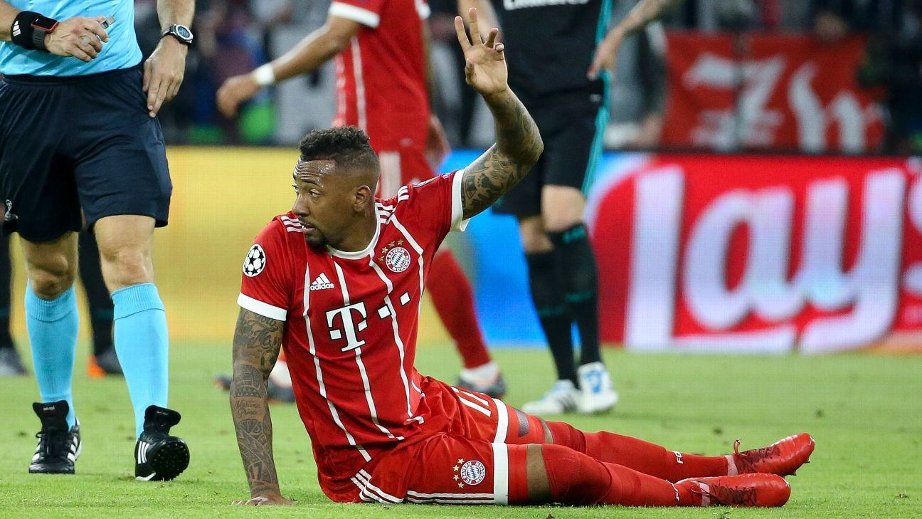 Jerome Boateng was injured in the first half against Real Madrid.