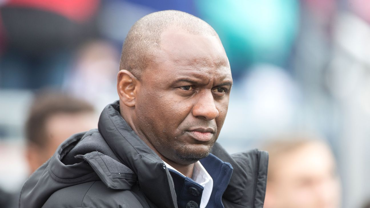 Patrick Vieira is the new man in at Nice.