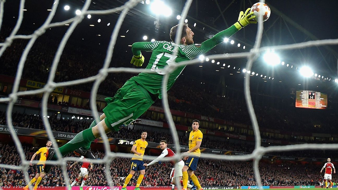 Jan Oblak showed why he is one of the world's top goalkeepers against Arsenal.