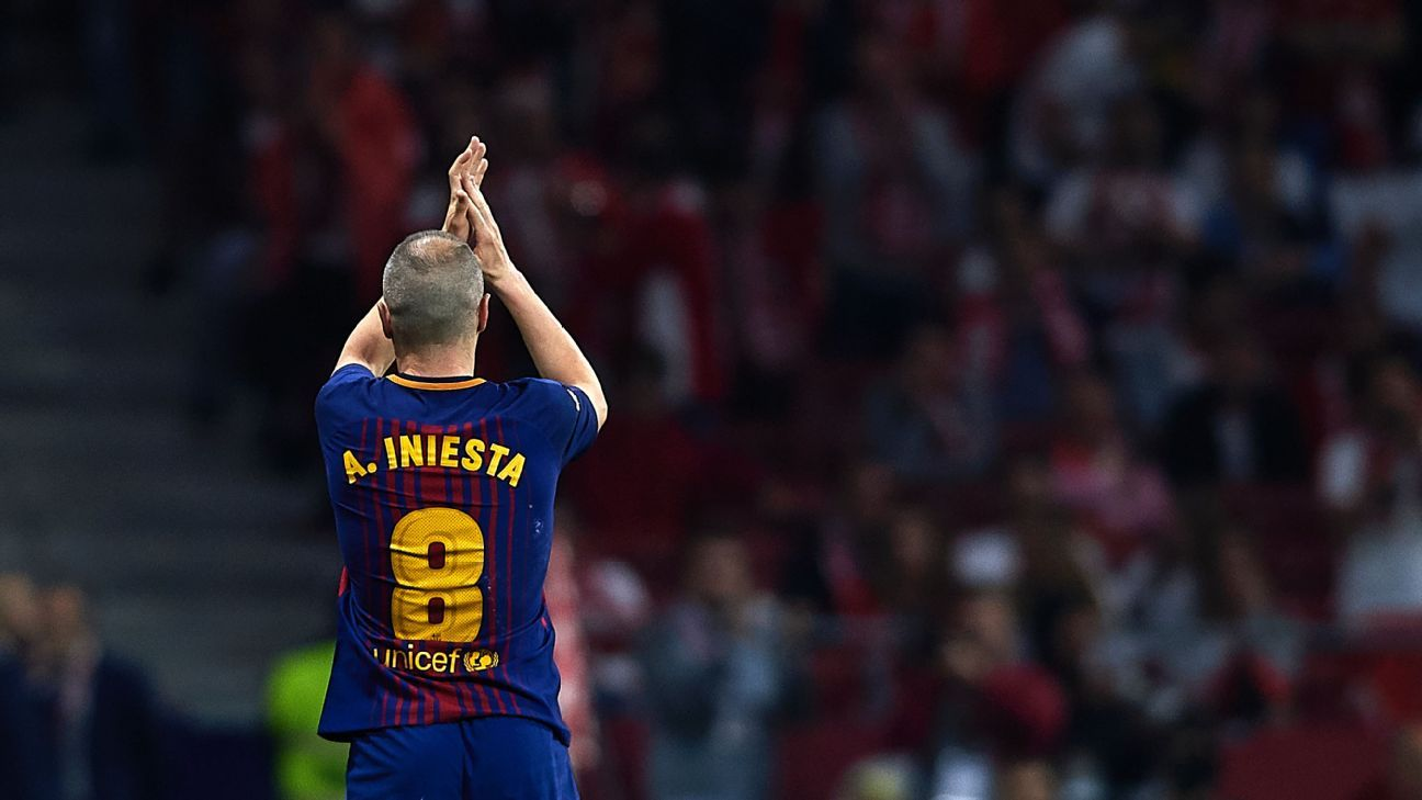 Andres Iniesta has spent his entire career at Barcelona but will leave at the end of this season.