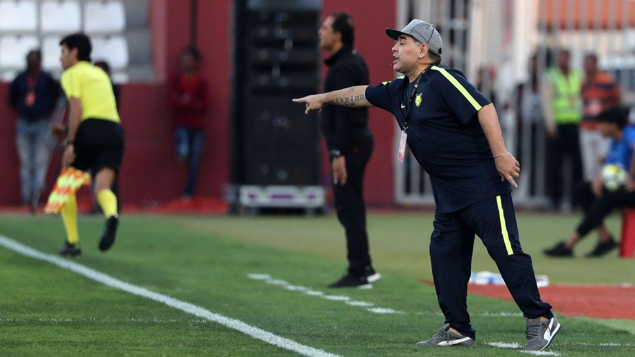 Maradona coaching Fujairah FC