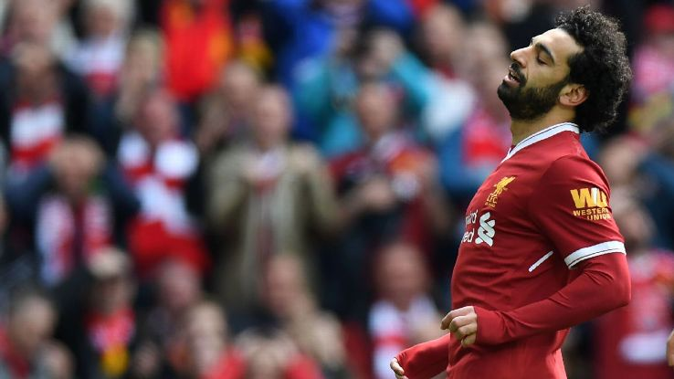Mohamed Salah and Liverpool are tiring a bit at the tail end of the season.