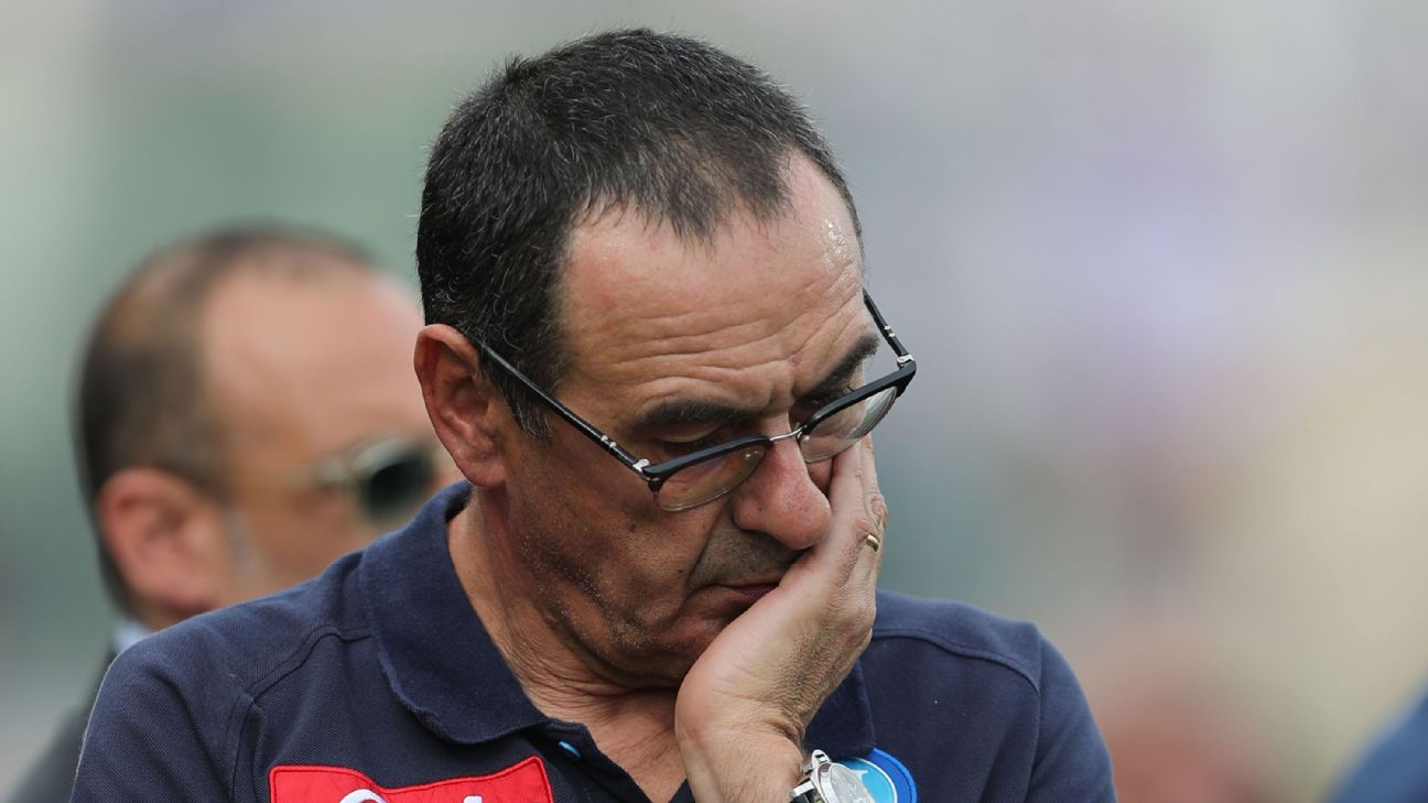 Napoli coach Maurizio Sarri is all but certain to miss out on the Scudetto.