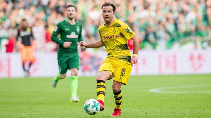 Borussia Dortmund's Mario Gotze .