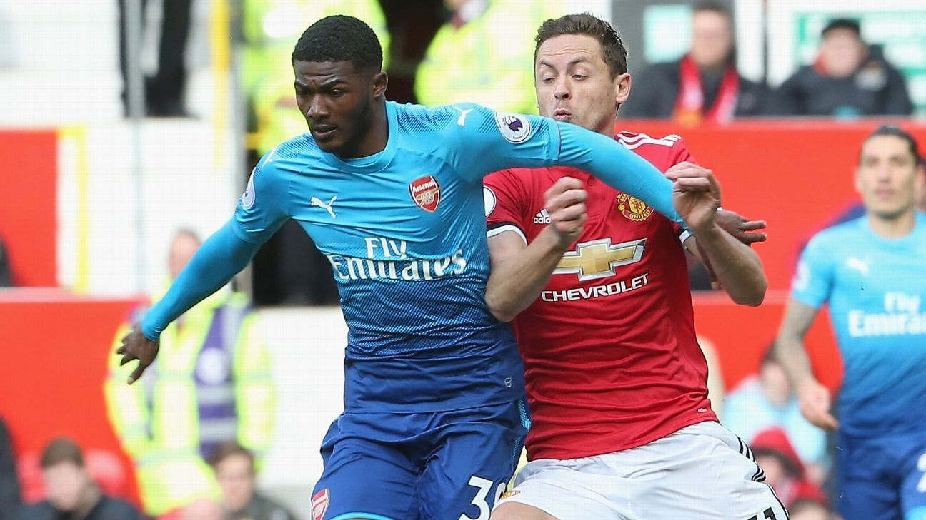Ainsley Maitland-Niles impressed during Arsenal's Premier League defeat against Manchester United.
