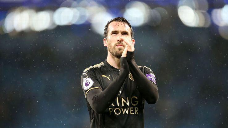 Leicester City's Christian Fuchs
